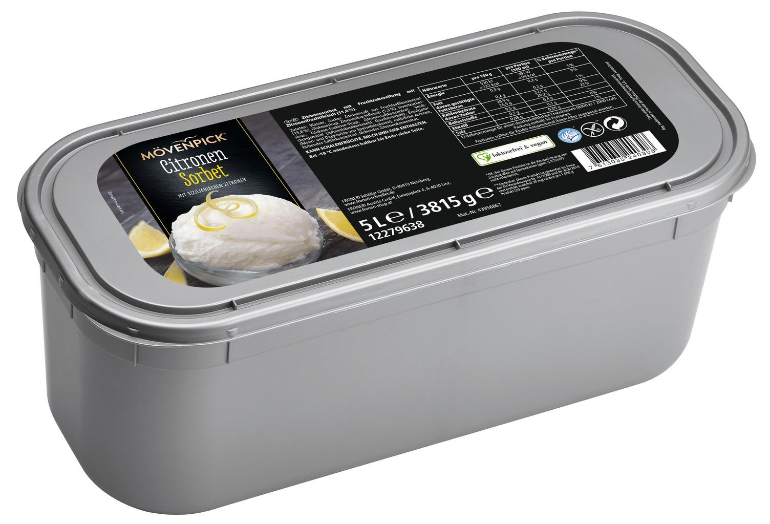 MOEVENPICK Citronen Sorbet 5000 ml