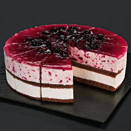 NESTLE SCHOELLER UNSERE PRACHTSTÜCKE CLASSICS Brombeer-Limetten-Torte vorgeschnitten 2050 g