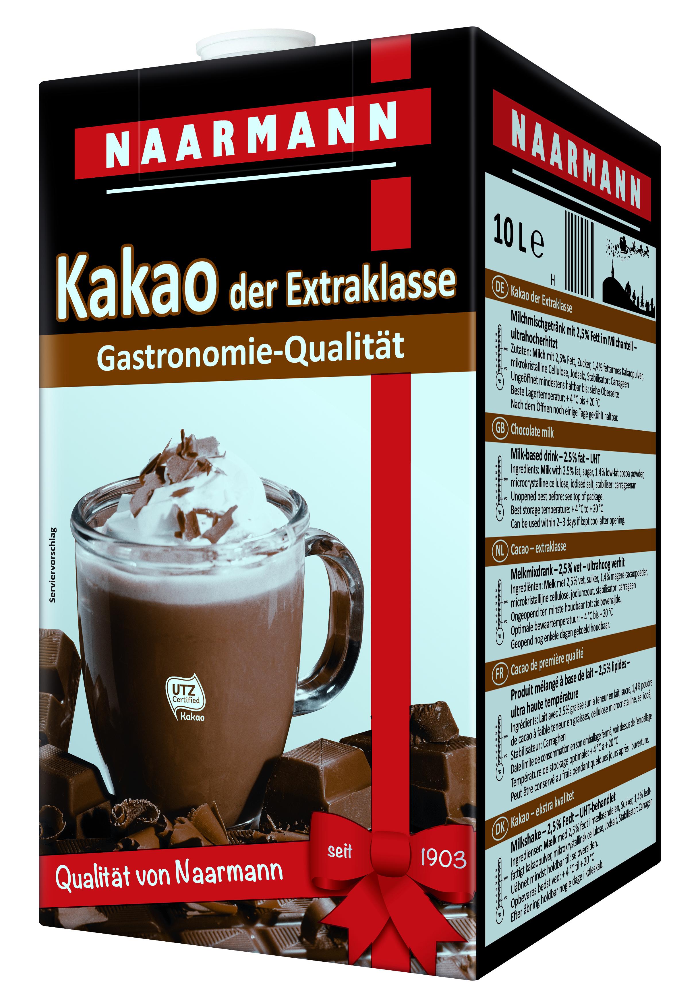 Naarmann Kakao der Extraklasse 2,5% Fett 10 Ltr.