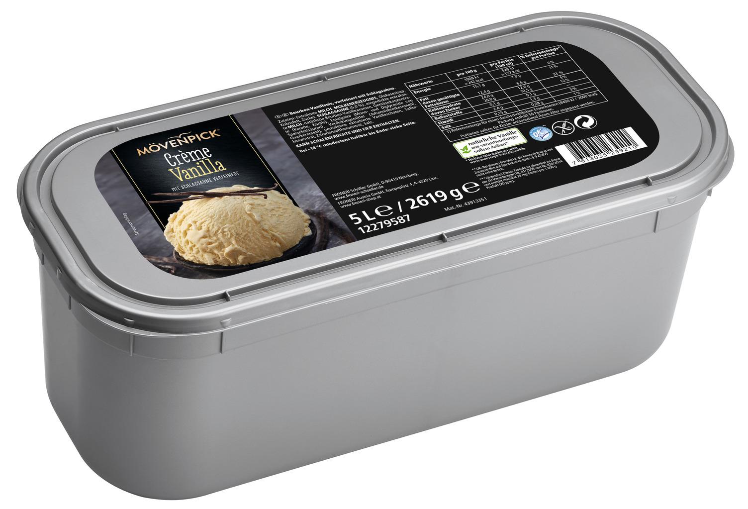 MOEVENPICK Creme Vanilla Eis 5000 ml