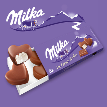 Mondelez Milka Ice Cream Hearts (8 Stk) 80 ml