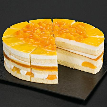 NESTLE SCHOELLER UNSERE PRACHTSTÜCKE CLASSICS Aprikosen-Zitronen-Torte vorgeschnitten 1750 g