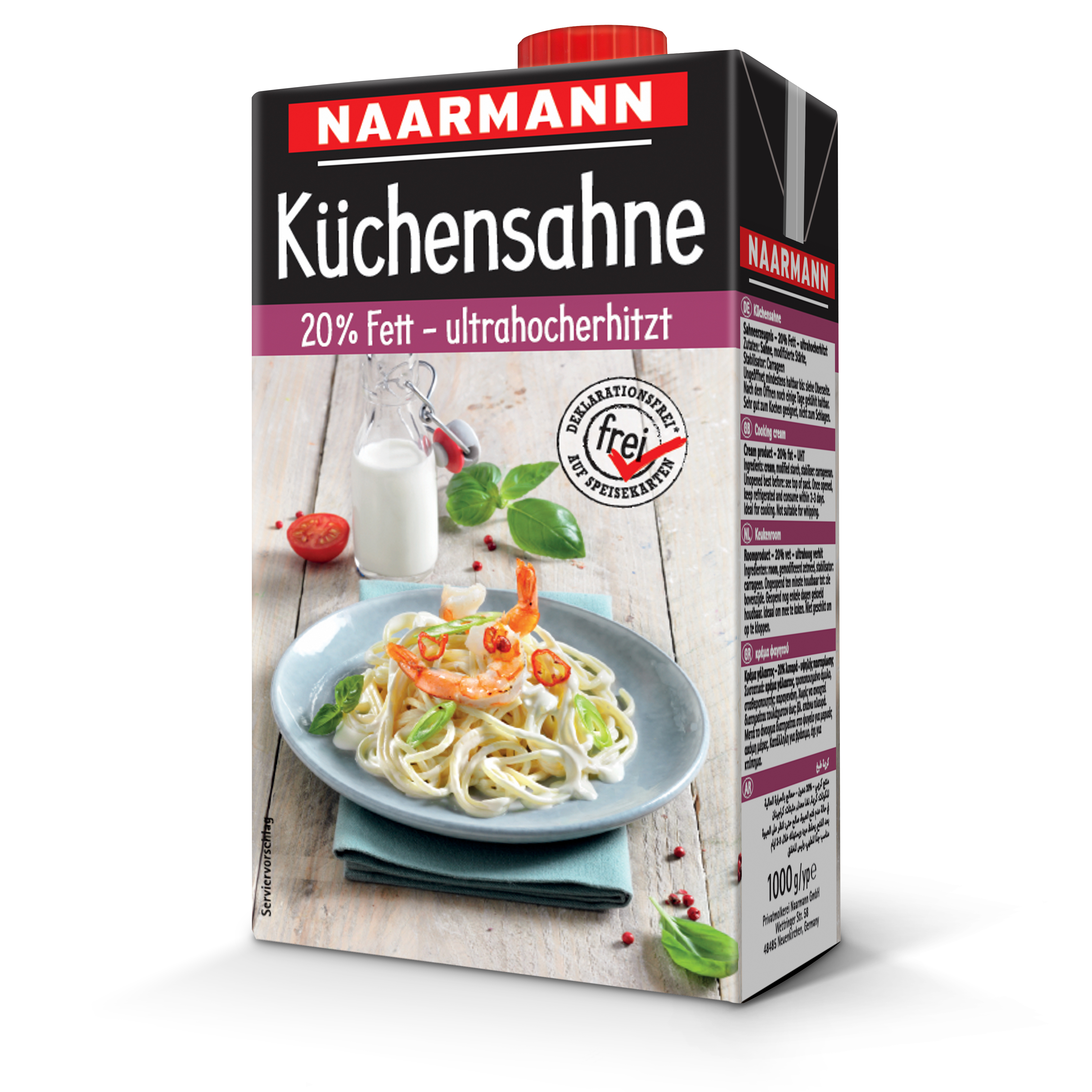 Naarmann Küchensahne 20 % Fett 1000 g