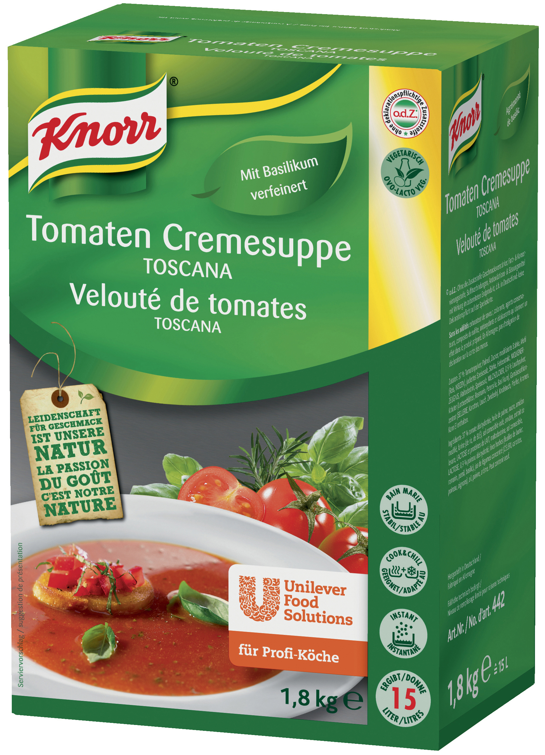 Knorr Tomaten Cremesuppe Toscana 1800 g
