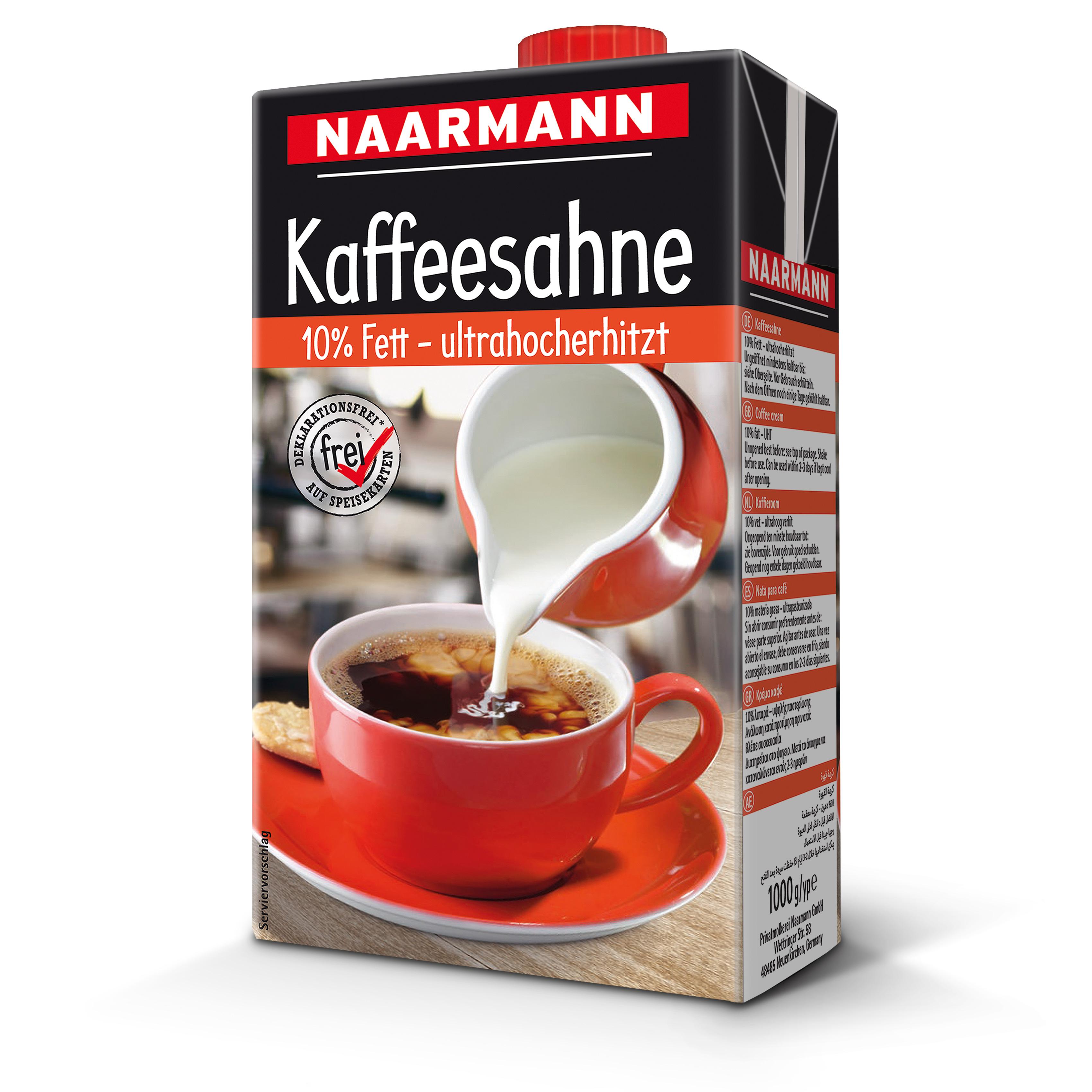 Naarmann Kaffeesahne 10% Fett 1000 g